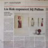 De Stad Nijkerk, lokale krant over mijn Expositie Mens-Beeld in Galerie Polhus Nijkerk. Local newspaper on my exhibition in a local Gallery named 'Polhus'.