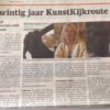 De Stad Amersfoort, Kunstkijkroute 2016. Local newspaper article on local artroute featuring me.