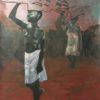 african girls, oilpaint on linen cloth, 150x115cm, 2015