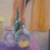 stillife with bottle, oil on board, 100x80cm, 2013 -